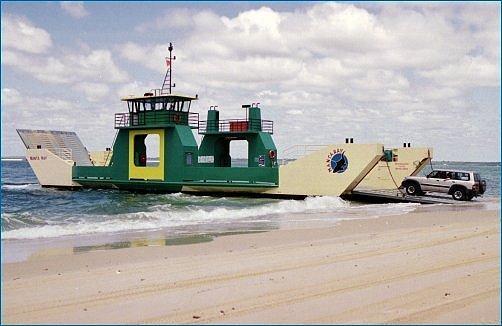 Manta Ray Barge   Fraser Island Realty
